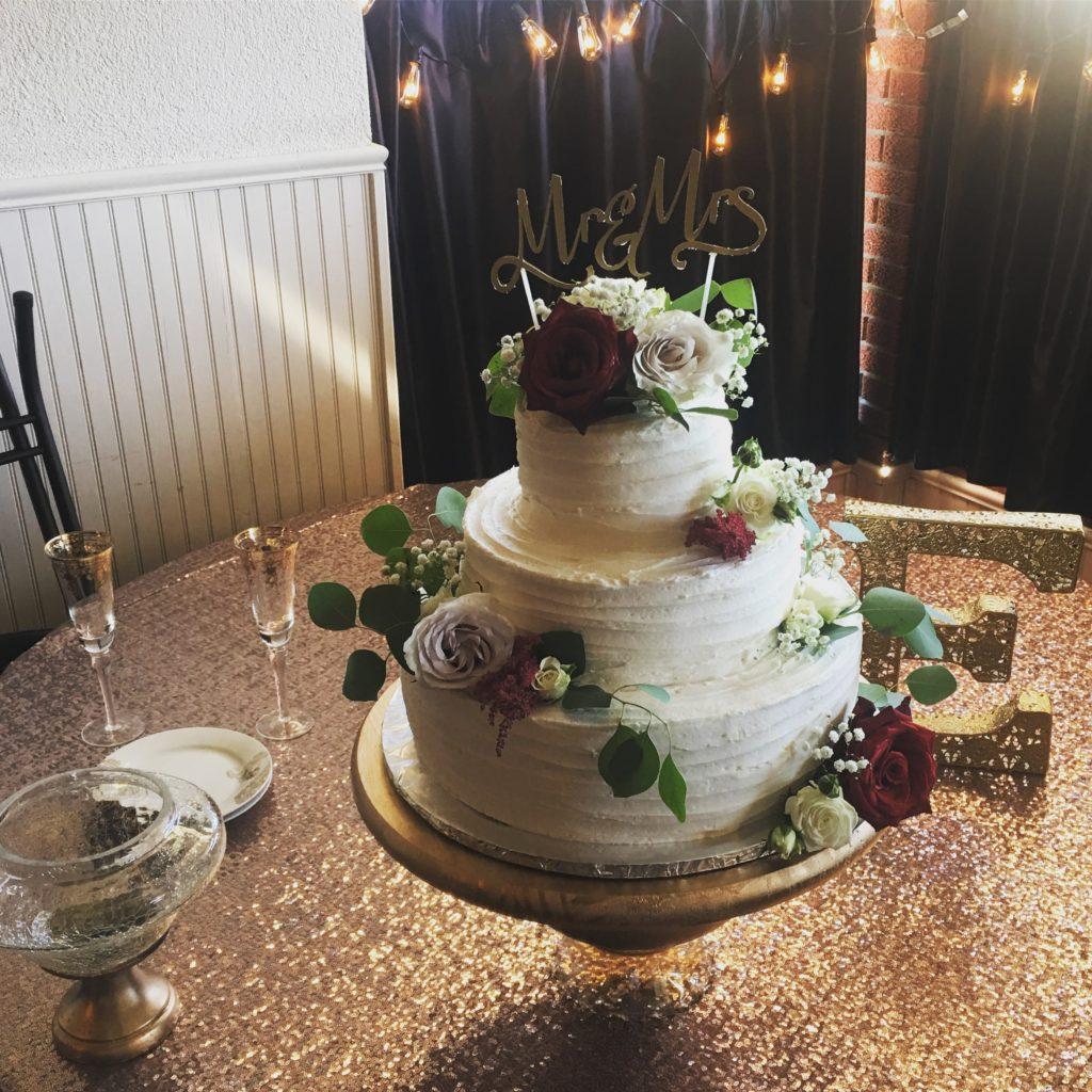 Beautiful cake and setup